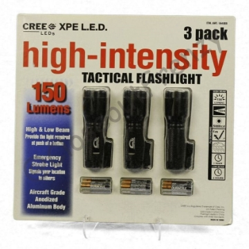 Picture of TechLite High-Intensity Tactical Flashlight 3 pack - CF-1-976